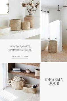 Can storage be stylish? By using handwoven jute baskets, the possibilities are endless. Explore the collection online. Dream Home Design, Home Interior Design, Interior Architecture, House Design, Sustainable Products, Roycroft, Large Storage Baskets, Cat Beds, Aesthetic Bedroom