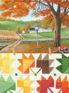 Great Big Canvas 'Maple Leaf Quilt' by Julie Peterson Painting Print Format: Canvas, Size: H x W Quilting Frames, Quilting Ideas, Quilt Patterns, Painting Prints, Art Prints, Fall Quilts, Landscape Quilts, Contemporary Artwork, 5 D