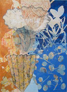 Eva Isaksen - Works on Paper - December Blue III