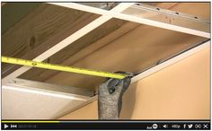 How to Cut Ceiling Tiles: The Family Handyman expert, Wade Sides, will show you how to cut custom ceiling tiles and shadow lines along the wall. #DIY #video