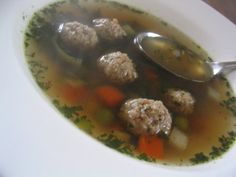 Bake My Day!: Groentesoep met balletjes / Vegetable soup with meat balls