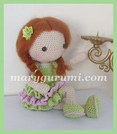 Poupée, Peluche en crochet, Amigurumi ♡ lovely doll