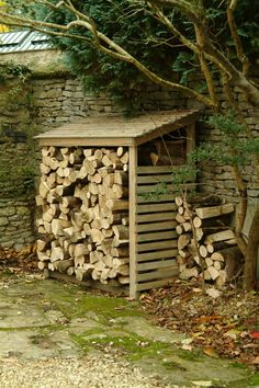 External fire wood log store for the garden or outdoors. Wooden Log Store from Garden trading. Firewood Shed, Firewood Storage, Log Shed, Log Store, Do It Yourself Furniture, Wood Logs, Fire Wood, Wood Burner, Outdoor Storage