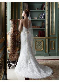 Mermaid Lace  Fabric Strapless Wedding Dress