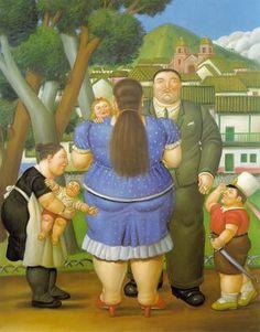 Fernando Botero - Una familia - 1996