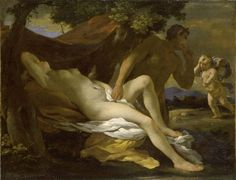 Nicolas Poussin 'Jupiter and Antiope'.