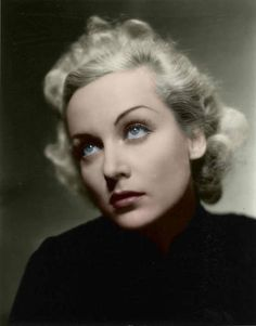 Carole Lombard, Film Actress. b.1906. Killed in air crash in 1942.