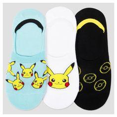 Women's 3-pk Liner Socks Pokemon 9-11, Multi-Colored