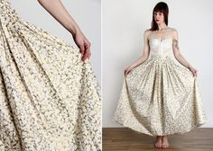 Gold Leaf Maxi Circle Skirt from VeraVague