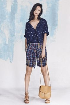 Madewell Spring 2017 Short Sleeve On Down Shirt Wrap Front Skort
