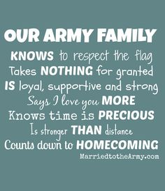 Our Army Family Knows...