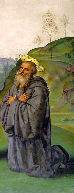 Pietro Perugino - La Crocifissione Pazzi: San Benedetto - affresco - 1493-1496 - Chiesa di Santa Maria Maddalena dei Pazzi - Firenze