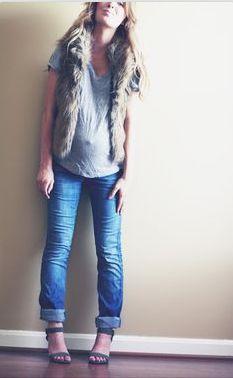 Great blog- maternity fashion layering ideas. Wondering if I can pull off a fur vest!? Editbylauren.com