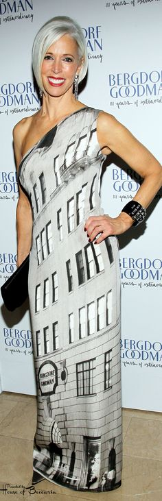 ~Linda Fargo, (the ever so fashionable senior VP of the fashion office and the director of women's fashion and store presentation for Bergdorf Goodman in NYC) wore custom Akris at Bergdorf Goodman's 111th anniversary celebration in New York City | House of Beccaria#