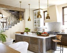 If Kitchen, Entry Hall, Dining Room became one, this is an idea for design.   Beth Webb Interiors