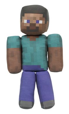 plush toy example - minecraft character steve