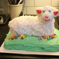 A Family Tradition in our home. The Easter Lamb Cake Recipe (via foodily.com) represents the sacrifice that Jesus made for all.