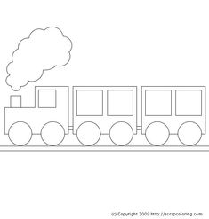Free Train Car Coloring Sheets to Print - Enjoy Coloring Train Coloring Pages, Colouring Pages, Coloring Pages For Kids, Coloring Sheets, Art Drawings For Kids, Drawing For Kids, Easy Drawings, Trains Birthday Party, Train Party