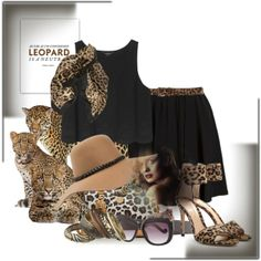 """""""leopard"""" by cavell on Polyvore"""