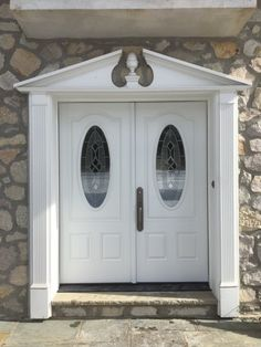 Installed by Chapman Windows, Doors & Siding. Grand Entrance, Entrance Doors, Door Trims, Wood Crafts, New Homes, Windows, Furniture, Ideas, Home Decor