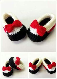 Zapatitos a crochet para bebés