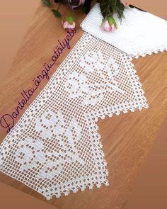 Crochet Gloves Pattern, Crochet Edging Patterns, Crochet Borders, Baby Knitting Patterns, Thread Crochet, Love Crochet, Filet Crochet, Crochet Curtains, Crochet Doilies