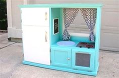Her Old TV Cabinet Was Garbage...Until She Got Creative And Turned It Into THIS!