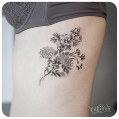 oriental painting flowers :) - #타투 #그라피투 #tattoo #graffittoo