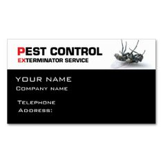 Pest control service business card template