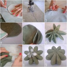 Such a cute project Felt Crafts, Fabric Crafts, Sewing Crafts, Sewing Projects, Felt Flowers, Fabric Flowers, Cactus Fabric, Cactus Craft, Felt Succulents