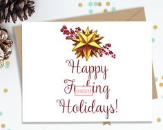 Holiday Cards Funny Greeting Cards Holiday by FourLetterWordCards
