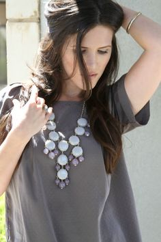 neutrals and bubble necklace