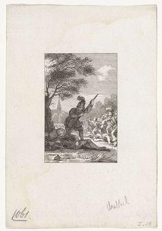 Reinier Vinkeles | Moord op Floris I, 1061, Reinier Vinkeles, Cornelis Bogerts, Jacobus Buys, 1783 - 1795 | Graaf Floris I wordt op 28 juni 1061 te Nederhemert slapend onder een boom vermoord.