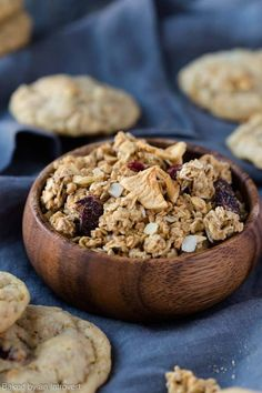 Simply delicious Granola Cookies with apples, cranberries, and almonds make great Christmas gifts!