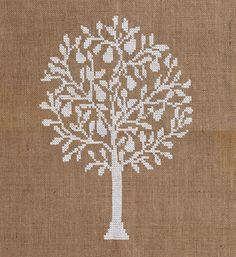 Pattern PEAR TREE cross stitchneedelpointcross by anetteeriksson