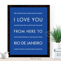 I Love You From Here To Rio De Janeiro art print