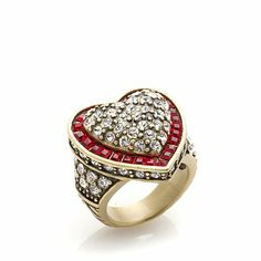 "Heidi Daus ""Heartbreakers"" Crystal Heart-Shaped Ring"