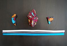 Pieces of a Mountain in Italy - Set of 3 by Ludart