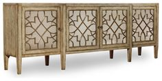 Four-Door Mirrored Console, Surf, Visage - contemporary - dressers chests and bedroom armoires - Benjamin Rugs and Furniture