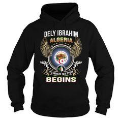 Dely Ibrahim-Algeria T Shirts, Hoodies. Check price ==► https://www.sunfrog.com/LifeStyle/Dely-Ibrahim-Algeria-Black-Hoodie.html?41382