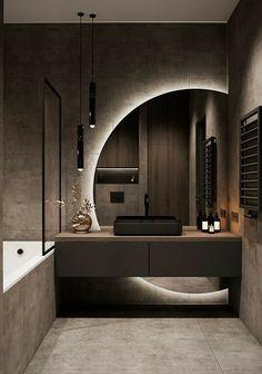 Bathroom Design Luxury, Modern Bathroom Design, Modern House Design, Modern Luxury Bathroom, Modern Apartment Design, Apartment Interior, Contemporary Bedroom Designs, Modern Mirror Design, Modern Tv Room