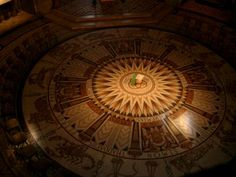 Church of the Dormition Floor A large mosaic that seems to include something of a sun dial calendar.