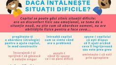 Cum poți sprijini copilul dacă întâlnește situații dificile? (Infografic) / Parenting / 7 ani de acasă Parenting, Childcare, Natural Parenting