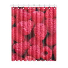 Raspberries Window Curtain. More sizes available. FREE Shipping. #erikakaisersot #artsadd #windowcurtains