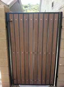 steel frame gate wood slats - Google Search