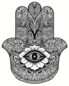 """Hamsa is the Arabic word for """"five"""" and represents the five digits of the hand. The Hamsa is universal sign of protection, and is often combined with the Evil Eye to ward anyone who wants to harm you. According to the history of this symbol, if anyone looks at you with evil intentions while you are carrying this symbol, they will be unable to cause you harm. - 7 Common Spiritual Symbols. Do You Know Their Meanings?"""