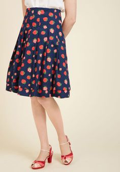 Before My Berry Eyes Midi Skirt. Why, is that a strawberry-printed skirt 909f97734f