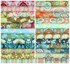 Amy Butler Belle Fabric bundle by Amy Butler Stash- Fat Quarter Bundle- 23 total on Etsy, $63.25