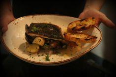 Pan Roasted Black Cod. Clams, smoked leeks, potatoes, spicy coppa, tarragon and cream. #Westward