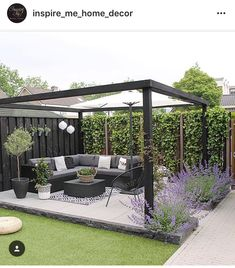 Amazing Modern Pergola Patio Ideas for Minimalist House. Many good homes of classical, modern, and minimalist designs add a modern pergola patio or canopy to beautify the home. In addition to the installa. Outdoor Rooms, Backyard Design, Patio Design, Garden Seating, Outdoor Design, Backyard Landscaping Designs, Home And Garden